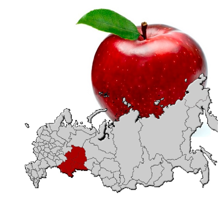 Уральский район на карте РФ