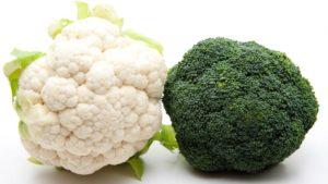 Схожесть цветной капусты и брокколи