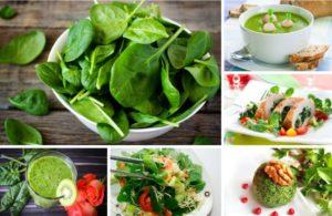 5 блюд из шпината