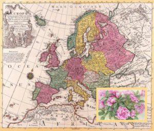 Карта Европы 18 века