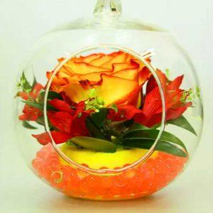 Гидрогель в стеклянном яблоке