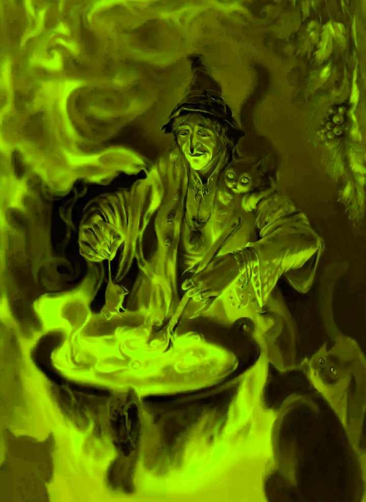 Ведьма варит белену
