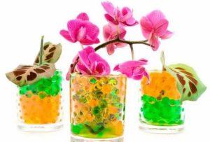 Оранжевый гель и орхидея