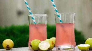Розовый сок из гуавы