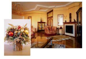 Украшение дома сухими цветами