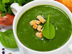 Блюда из шпината: суп