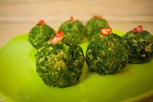 Блюда из шпината: шарики