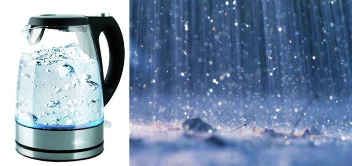 Кипяченая и дождевая вода
