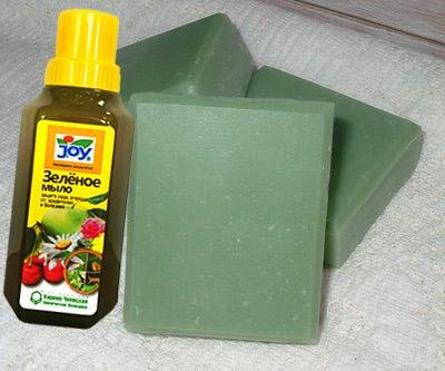 Твердое и жидкое зеленео мыло от болезнйе и вредителей для сада
