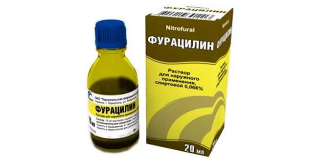Фурациллин в качестве пеервой помощи при ожоге борщевиком