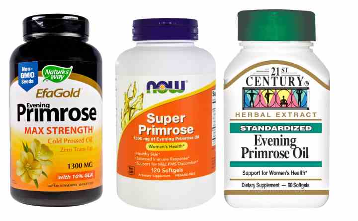 Банки с витаминами из масел примулы