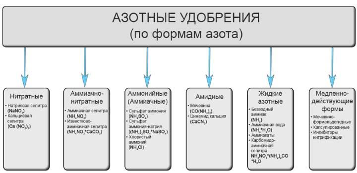 Классификация азотных удобрений