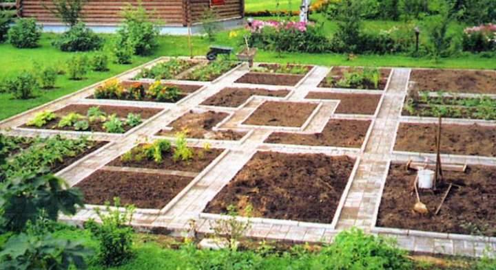 Пейзажный стиль огорода