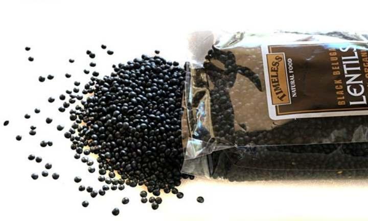 Вид чечевицы черного цвета
