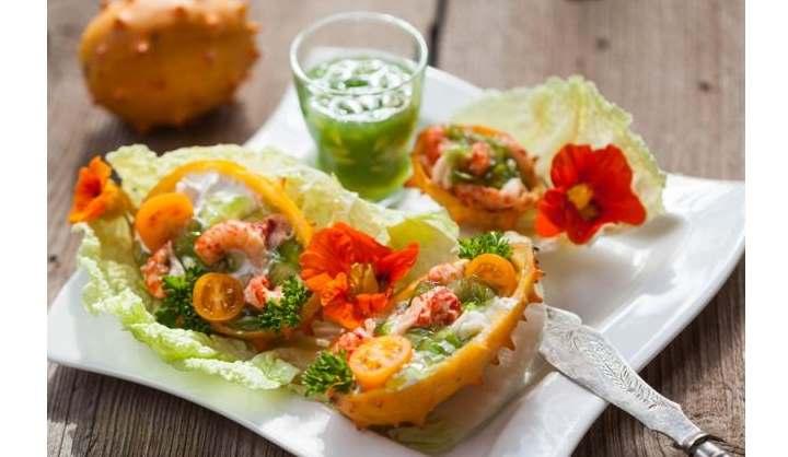 Салат из плодов кивано