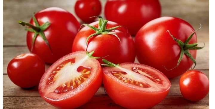 В разрезе помидор
