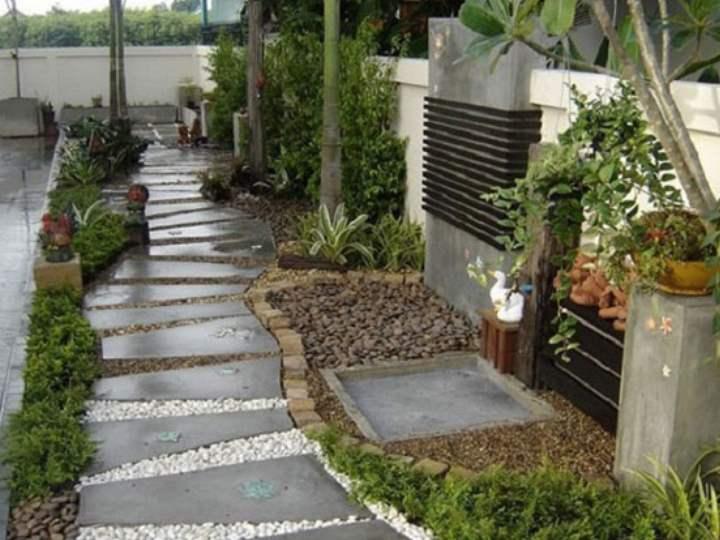 Галька + бетон