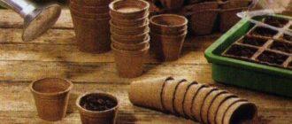 Торфяные стаканчики