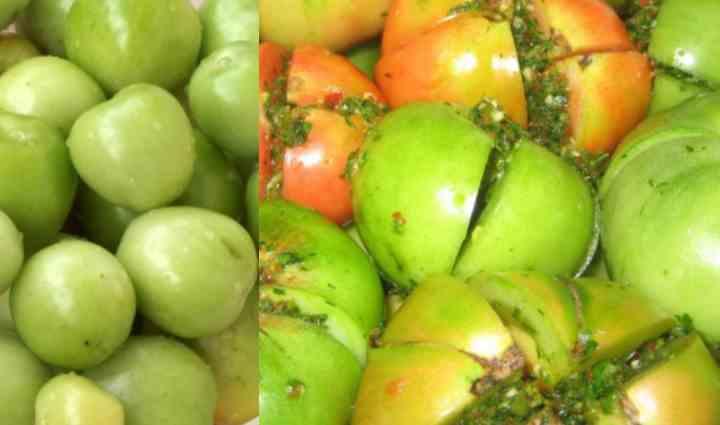 Рецепт зеленый помидор с болгарским перцем