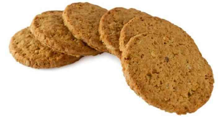 Круглое ржаное печенье